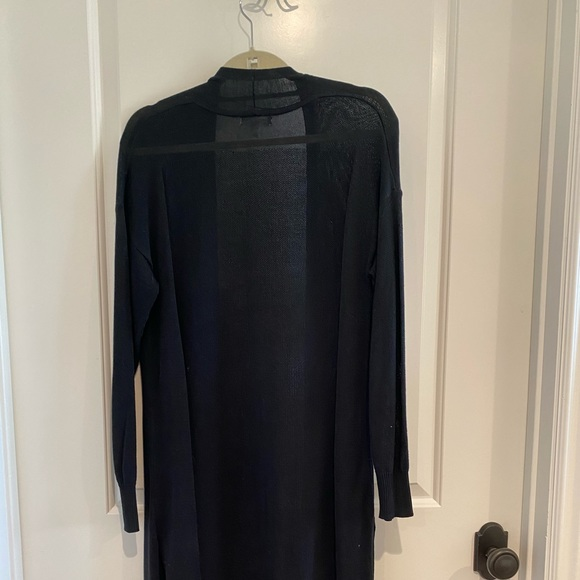 Prologue Sweaters - Black Duster Sweater